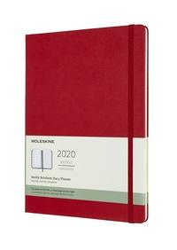 Plánovací zápisník Moleskine 2020 tvrdý červený XL