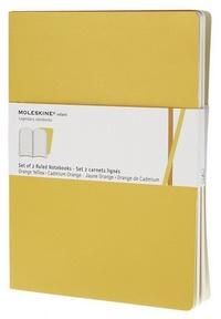Volant zápisníky 2 ks, linkovaný, žlutooranžový XL