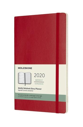 Plánovací zápisník Moleskine 2020 měkký červený L