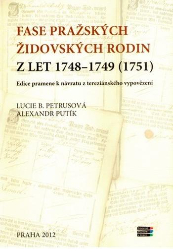Fase pražských židovských rodin z let 1748-1749 (1751)