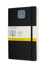 Zápisník Moleskine Expanded měkký čtverečkovaný černý L