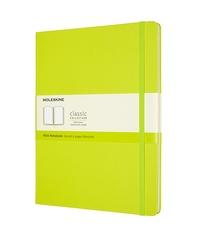 Zápisník Moleskine tvrdý čistý žlutozelený XL