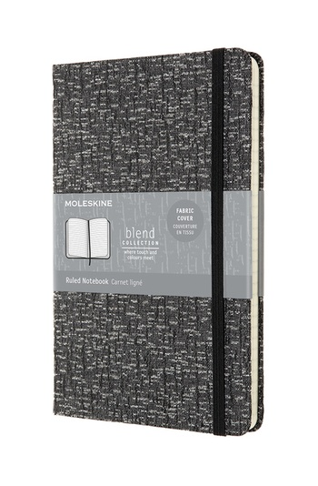 Blend zápisník Moleskine linkovaný šedý L