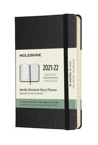 Plánovací zápisník Moleskine 2021-2022 tvrdý černý S