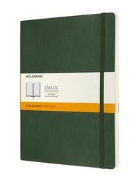 Zápisník Moleskine měkký linkovaný zelený XL