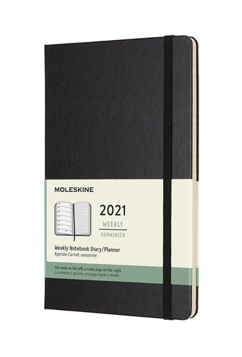 Plánovací zápisník Moleskine 2021 tvrdý černý L