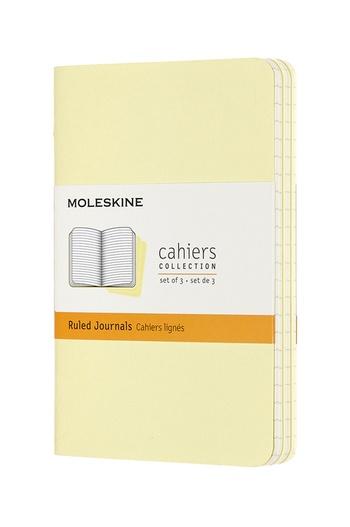 Sešity Moleskine 3 ks linkované žluté S