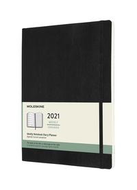 Plánovací zápisník Moleskine 2021 měkký černý XL