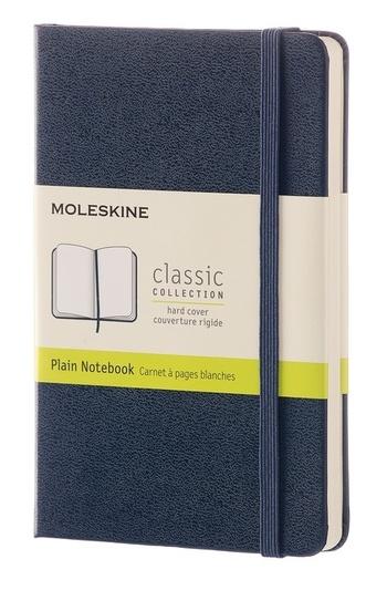 Zápisník tvrdý čistý modrý S