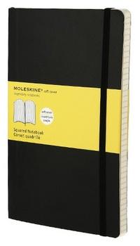 Zápisník, měkký čtverečkovaný, černý L