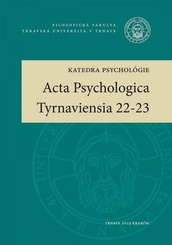 Acta Psychologica Tyrnaviensia 22-23