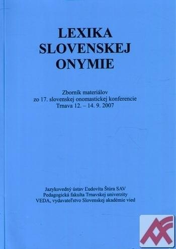 Lexika slovenskej onymie