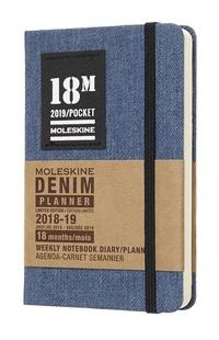 Denim plánovací zápisník modrý 2018-2019 S