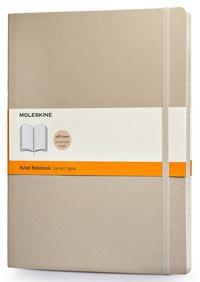 Zápisník měkký linkovaný, béžový XL