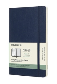 Plánovací zápisník 2019-2020 měkký černý L