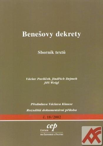 Benešovy dekrety. Sborník textů
