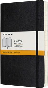 Zápisník Moleskine Expanded měkký linkovaný černý L
