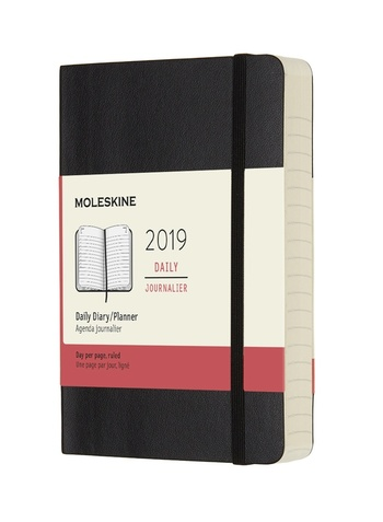Diář Moleskine 2019 denní měkký černý S