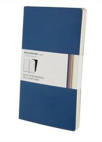 Volant zápisníky, 2 ks, linkovaný, modrý L