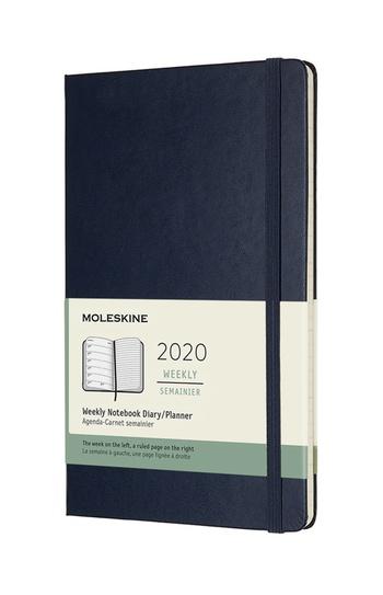 Plánovací zápisník Moleskine 2020 tvrdý modrý L