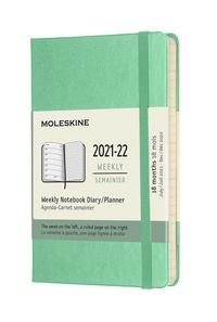 Plánovací zápisník Moleskine 2021-2022 tvrdý zelený S
