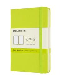 Zápisník Moleskine tvrdý čistý žlutozelený S