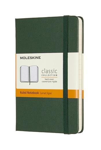 Zápisník Moleskine tvrdý linkovaný zelený S