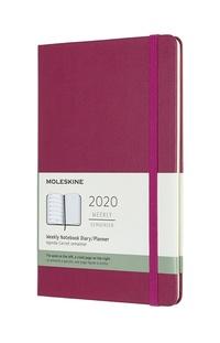 Plánovací zápisník Moleskine 2020 tvrdý růžový L