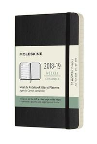 Plánovací zápisník Moleskine 2018-2019 měkký černý S