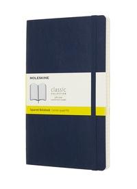 Zápisník Moleskine měkký čtverečkovaný modrý L