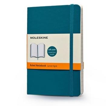 Zápisník, linkovaný, měkký světle modrý S