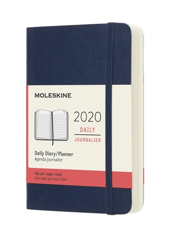Diář Moleskine 2020 denní měkký modrý S
