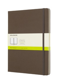 Zápisník Moleskine tvrdý čistý hnědý XL