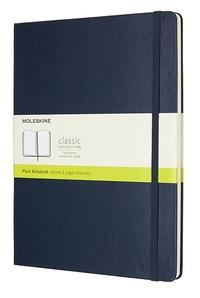 Zápisník tvrdý čistý modrý XL