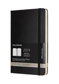 Vertikální diář Moleskine 2019 tvrdý XL