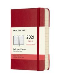 Diář Moleskine 2021 denní tvrdý červený S