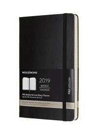 Vertikální diář Moleskine 2019 tvrdý L