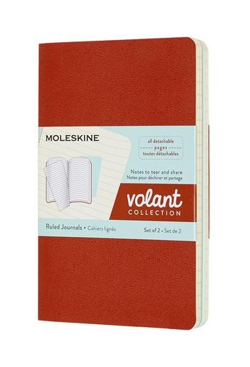 Volant zápisníky Moleskine 2 ks linkovaný oranžový a modrý S