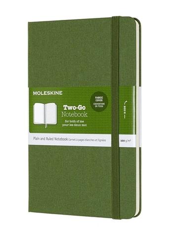 Two-go zápisník Moleskine zelený M