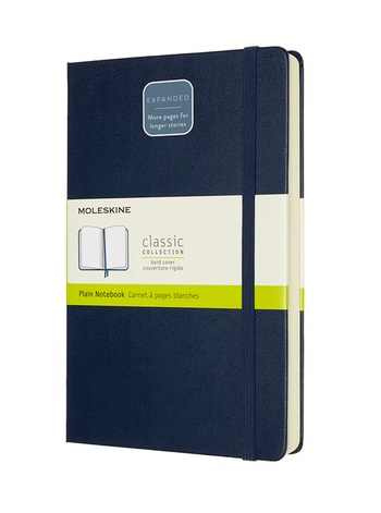 Zápisník Moleskine Expanded tvrdý čistý modrý L