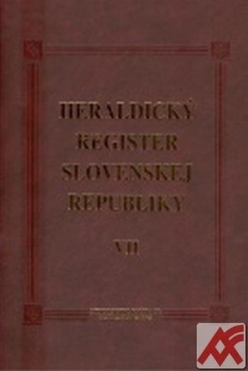 Heraldický register Slovenskej republiky VII.