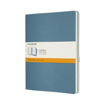 Sešity Moleskine 3 ks linkované modré XL