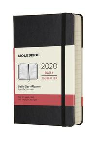 Diář Moleskine 2020 denní tvrdý černý S