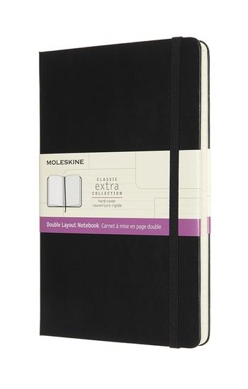 Zápisník Moleskine tvrdý linkovaný-čistý černý L