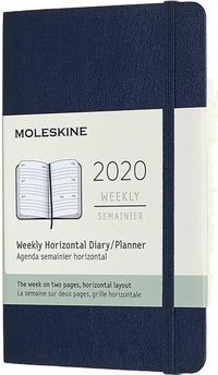 Horizontální týdenní diář Moleskine 2020 měkký černý S