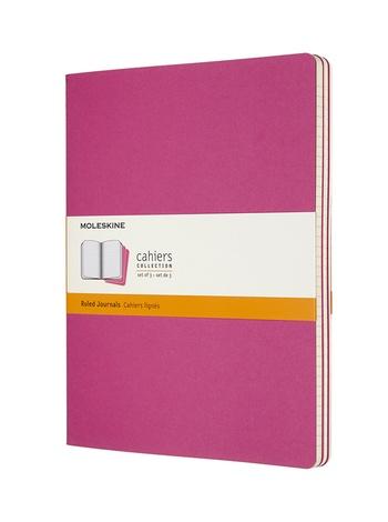Sešity Moleskine 3 ks linkované růžové XL