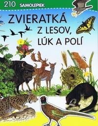 Zvieratká z lesov, lúk a polí. 210 samolepiek