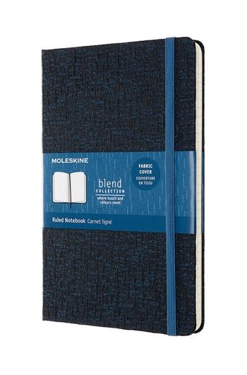 Blend zápisník Moleskine linkovaný modrý L