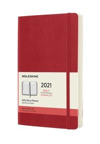 Diář Moleskine 2021 denní měkký červený L