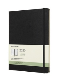 Plánovací zápisník Moleskine 2020 tvrdý černý XL